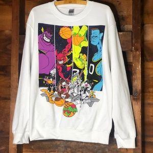 NWOT Space Jame Crew Neck Sweatshirt